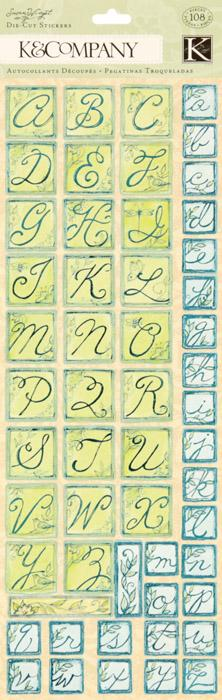 Susan Winget Nature Die-Cut Alphabet Stickers 108/pcs
