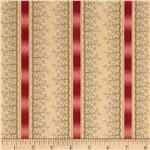 0289134 Old Savannah Ribbon Stripe Cream/Pink