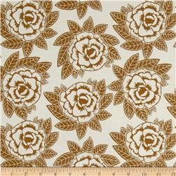 Riley Blake Indie Chic Large Floral Brown