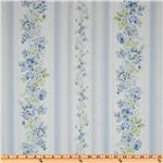 Treasures by Shabby Chic Wildflowers Floral Stripes Blue