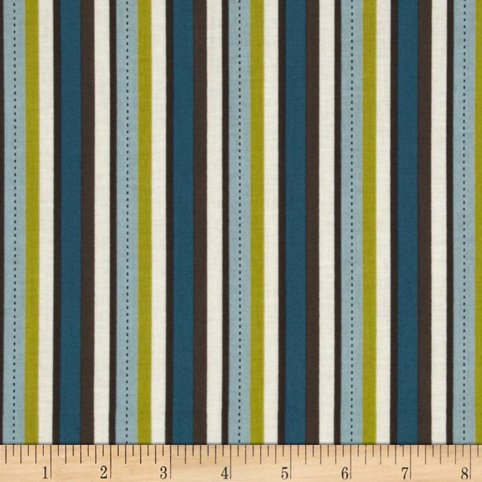 Riley Blake Pirate Matey&#39;s Pirate Stripes Blue