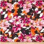 Bloom Stretch Cotton Sateen Flowers Pink