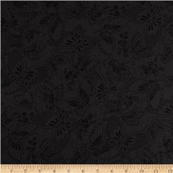 "110"" Wide Quilt Backing Butterfly Black"
