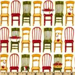 ER-892 Kaufman Kiss The Cook Vintage Kitchen Chairs Red/Green