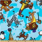 Madagascar Characters Fleece Blue