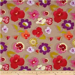 Secret Garden Large Floral Linen Beige