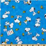 FR-821 Peanuts-Project Linus Snoopy & Woodstock Toss Blue