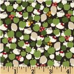 FI-020 Liberty Of London Tana Lawn Hello Kitty Kitty Apple Tree Green