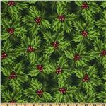 FO-010 Merry Christmas Holly Green/Metallic