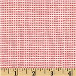 Wool Blend Suiting Checked Pink/White
