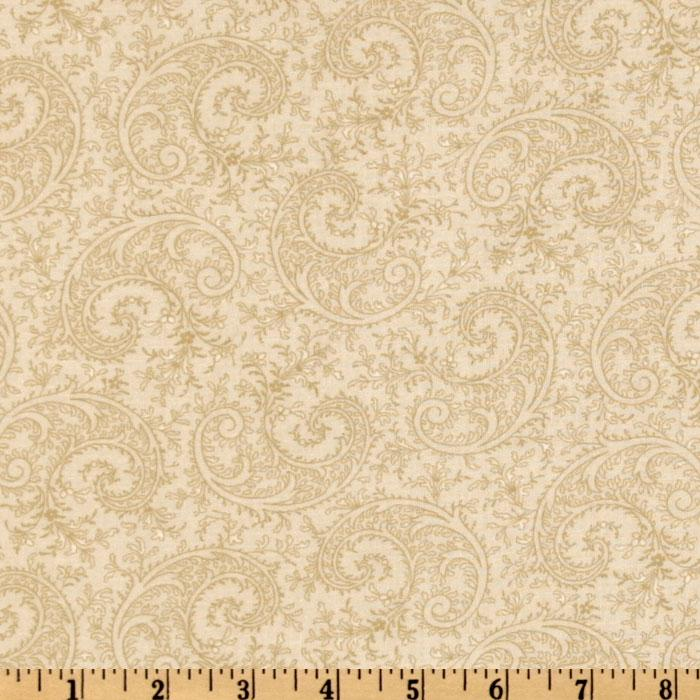 115&#39;&#39; Royal Lights Quilt Backing Paisley Beige