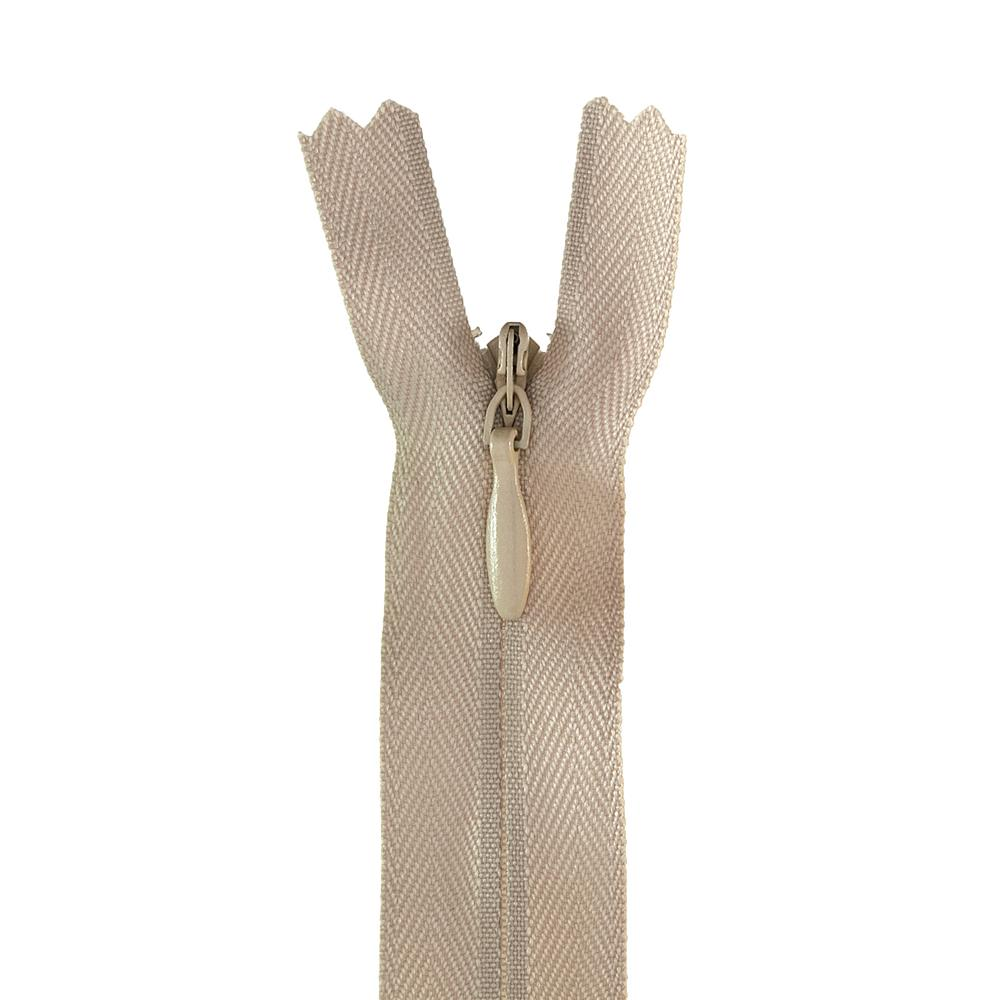 12-14'' Poly Invisible Zipper Ecru