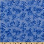 Boyds Bears Toile Blue