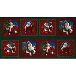 Holly Jolly Christmas 2 Santa Claus Panel Holiday