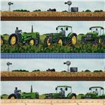 Tractor Time Tractor Repeating Stripe Green