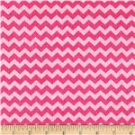 0283413 Timeless Treasures Ziggy Small Chevron Peony Pink