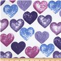 Daisy Love Flannel Large Hearts Spring