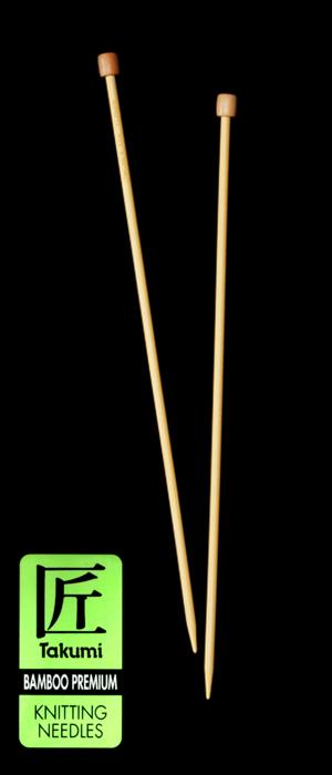 Clover Takumi Bamboo Premium Knitting Needles Single Pt. 13''- US 10 (6mm)