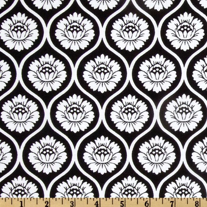 Fleur Noir Floral Wallpaper Black