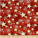 0292404 Star Spangled Bandana Stars Red