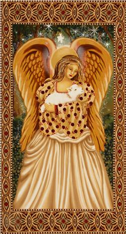 Michael Miller Golden Angel Panel Gold