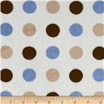 0283698 Minky Cuddle 3 Way Renaissance Dots Blue/Brown/Latte