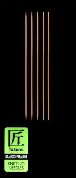 Clover Takumi Bamboo Premium Knitting Needles Double Pt. 7'' US 1 (2.25mm)