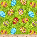 Easter Eggs Tossed Green/Multi