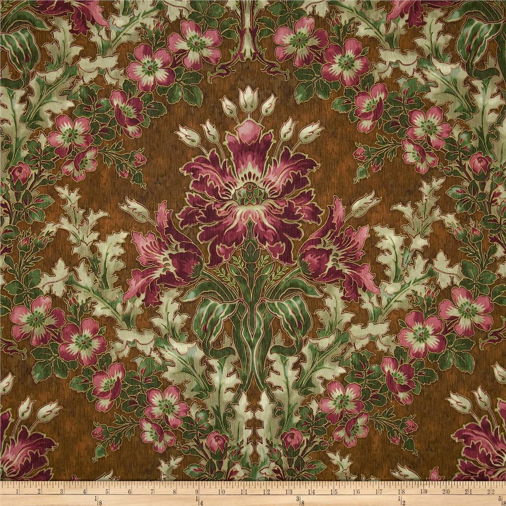 Claridge Manor Large Floral Brown