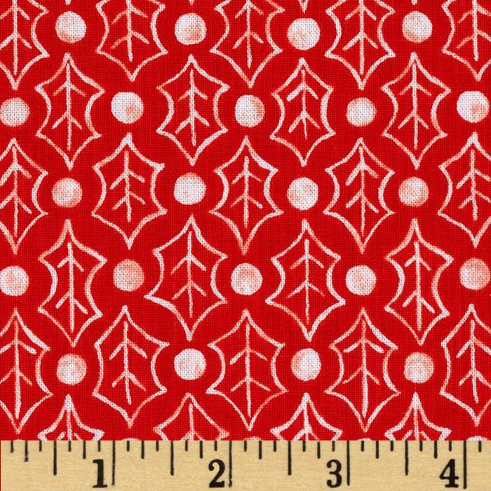Susybee Christmas Dots & Leaves White/Red