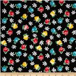 200265 Michael Miller Poppy Love Retro Rose Black
