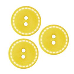 Fashion Button 3/4'' Lorca Yellow