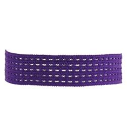 "1-3/8"" Stretch Perforated Headbands Purple"