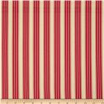 Pirouette Vintage Ticking Stripe Ruby