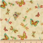 Happy Blooms Dragonflies &amp; Butterflies Ivory