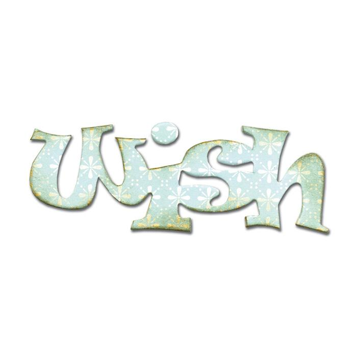 Sizzix Originals Die Phrase, Wish Medium