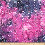 Indian Batik Dots and Squares Pink/Purple