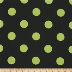 Caymans Indoor/Outdoor Polka Dot Black/Lime