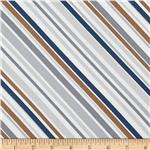 Riley Blake Super Star Stripe Grey