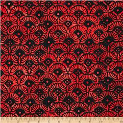 Tonga Batik Rising Sun Caribbean Fan Luck
