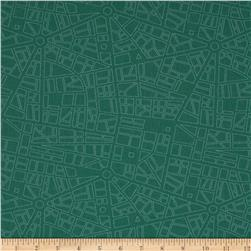 Moda Barcelona City Map Teal