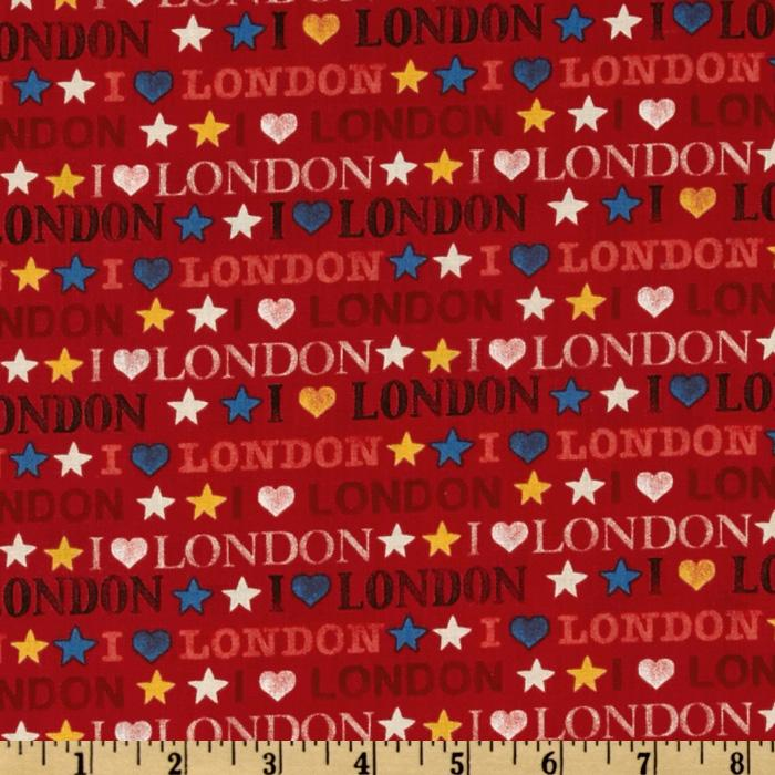 London I Luv London Red
