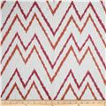 Duralee Home Embroidered Levi Chevron Grapefruit