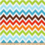 0290614 Remix Chevron Bermuda Orange/Blue