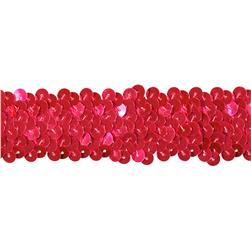 Team Spirit #66 Sequin Trim Cerise Flo