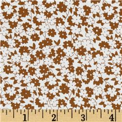 Floursack Flowers Allover Brown