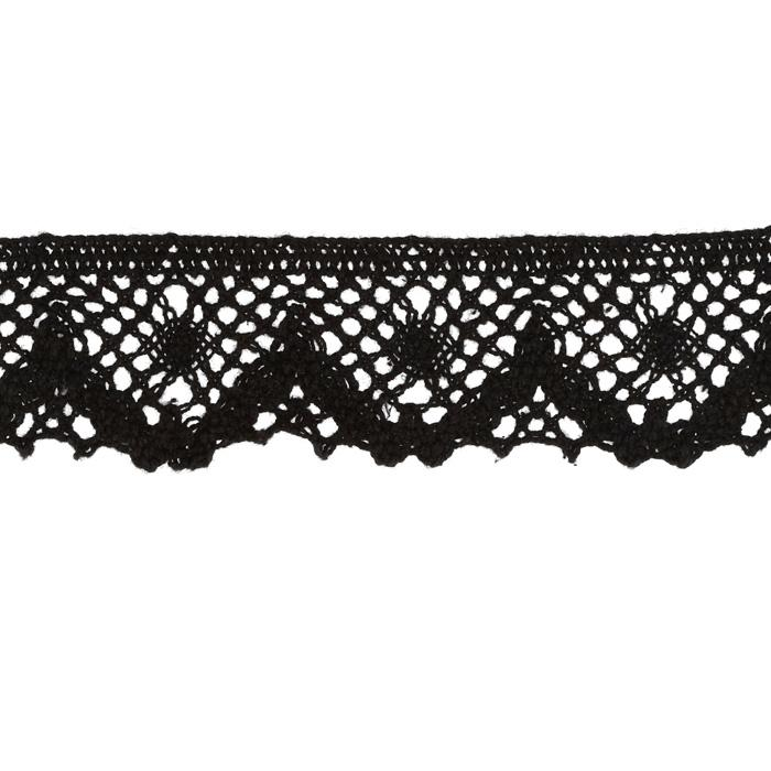 "Riley Blake Sew Together 1 1/4"" Crocheted Lace Trim Black"