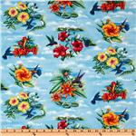 FD-156 Paradise Birds Blue