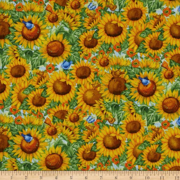 Sunny  Blossoms Packed Sunflowers Yellow