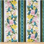 0301838 Hummingbird Border Stripe Cream